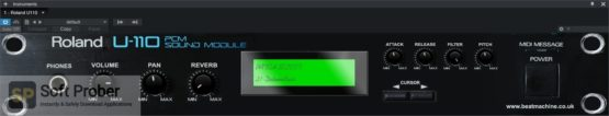 Beat Machine Roland U110 Sound Module Direct Link Download Softprober.com