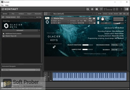 Fracture Sounds Glacier Keys: Cinematic Piano Harmonics Offline Installer Download Softprober.com
