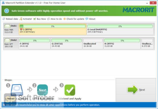 Macrorit Partition Extender 2021 Direct Link Download Softprober.com