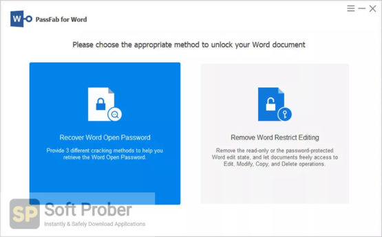 PassFab for Word 2021 Direct Link Download Softprober.com