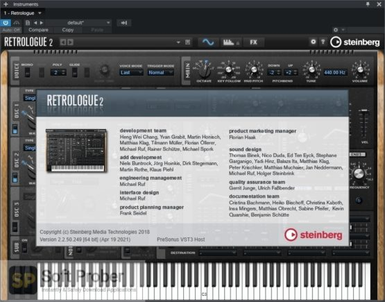 Steinberg Retrologue 2 Offline Installer Download Softprober.com