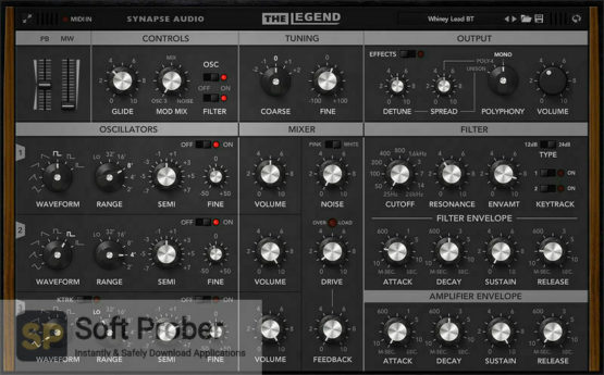 Synapse Audio The Legend Latest Version Download Softprober.com
