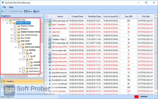 SysTools Pen Drive Recovery 2021 Latest Version Download Softprober.com
