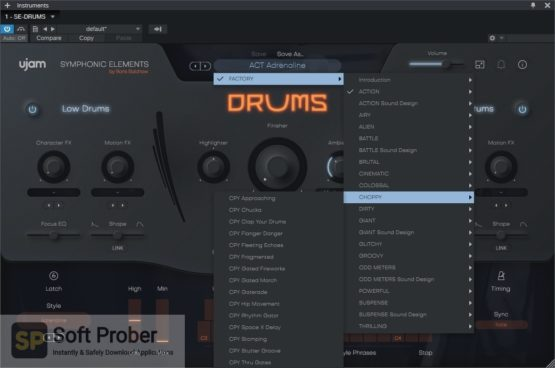 uJAM Symphonic Elements DRUMS Latest Version Download Softprober.com
